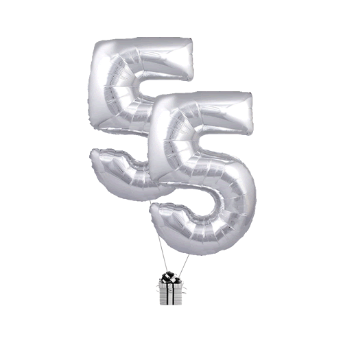 Silver 55 Big Numbers