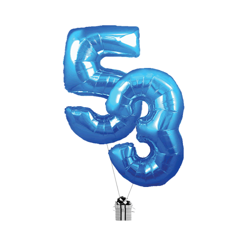 Blue 53 Big Numbers