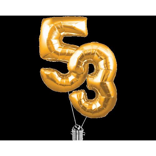 Gold 53 Big Numberd