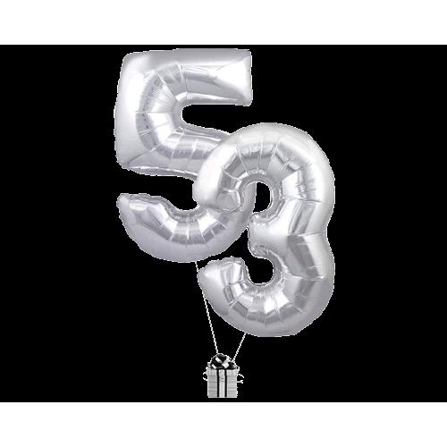 Silver 53 Big Numbers
