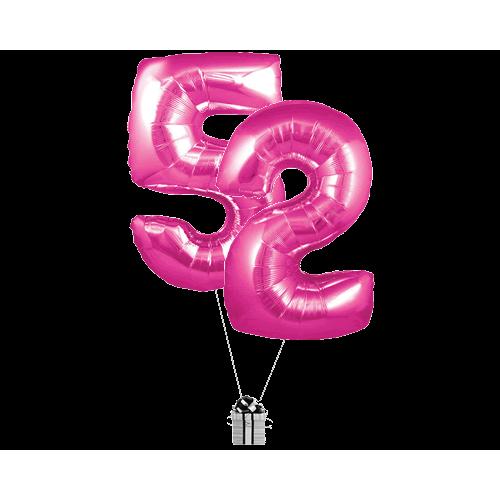Pink 52 Big Numbers