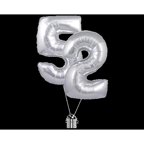 Silver 52 Big Numbers