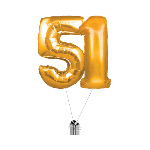 Gold 51 Big Numbers