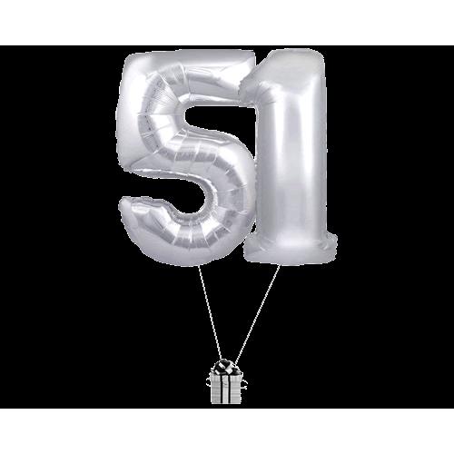 Silver 51 Big Numbers