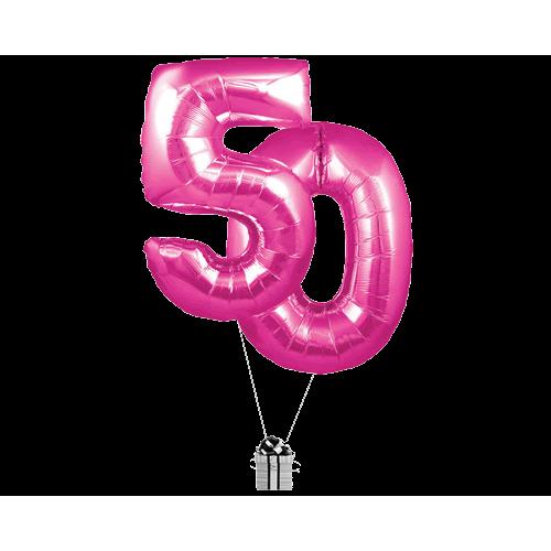 Pink 50 Big Numbers