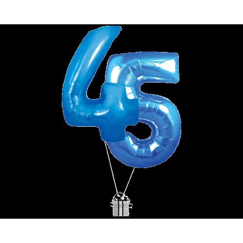 Blue 45 Big Numbers