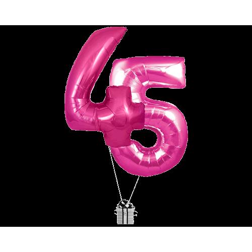 Pink 45 Big Numbers