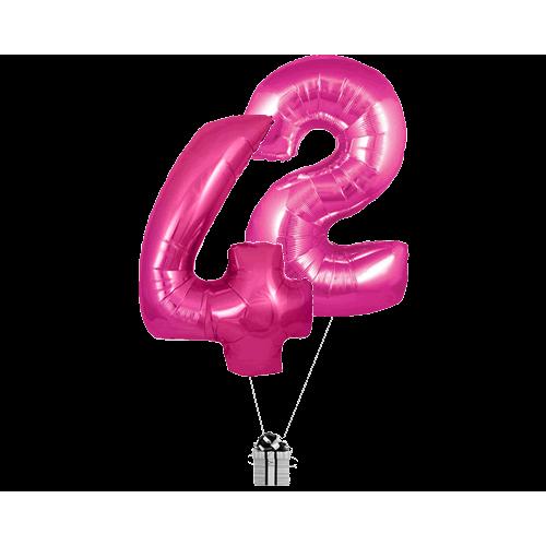 Pink 42 Big Numbers