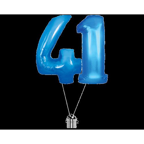 Blue 41 Big Numbers