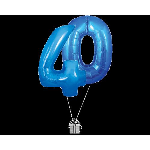 Blue 40 Big Number