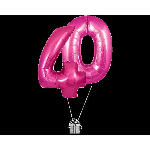 Pink 40 Big Numbers