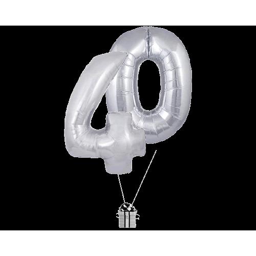 Silver 40 Big Numbers