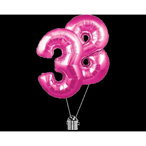 Pink 38 Big Numbers