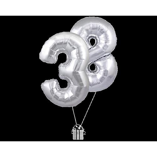 Silver 38 Big Numbers