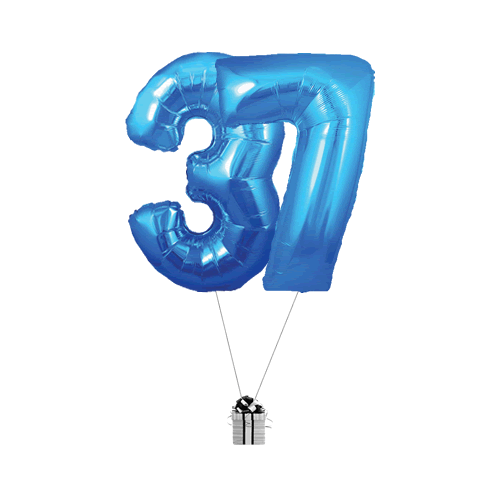 Blue 37 Big Numbers