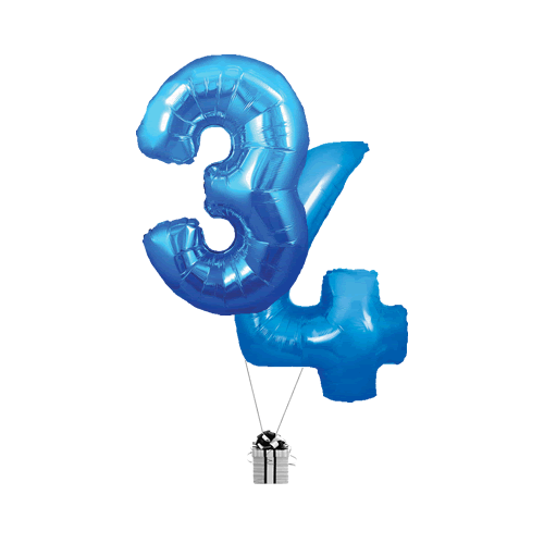 Blue 34 Big Numbers