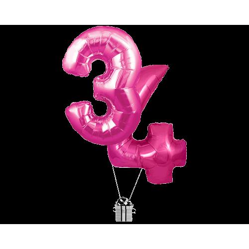 Pink 34 Big Numbers