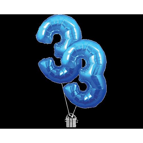 Blue 33 Big Numbers