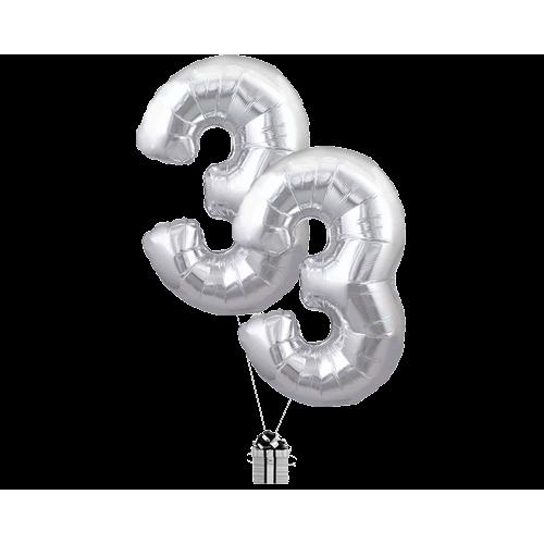 Silver 33 Big Numbers