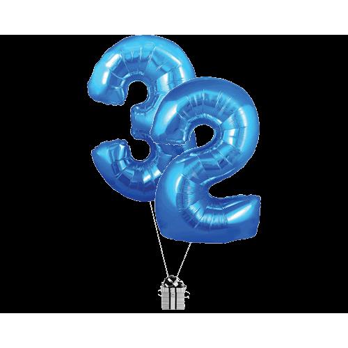 Blue 32 Big Numbers