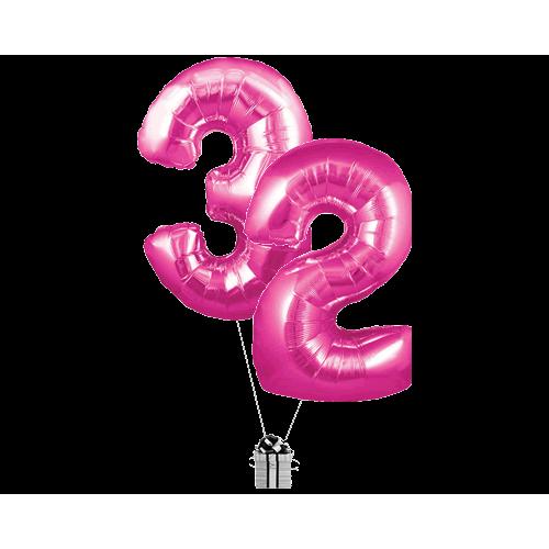 Pink 32 Big Numbers