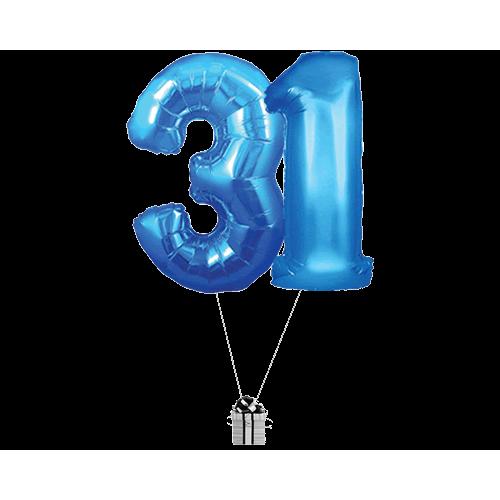 Blue 31 Big Numbers