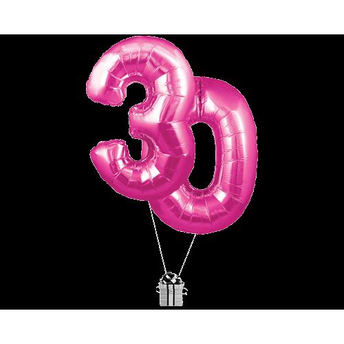 Pink 30 Big Numbers