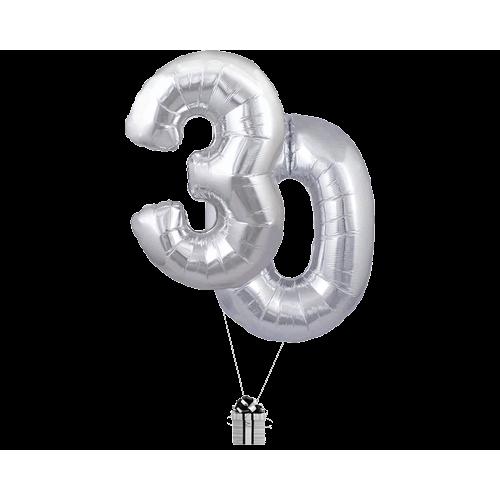 Silver 30 Big Numbers