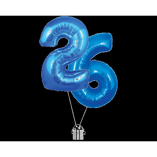 Blue 26 Big Numbers