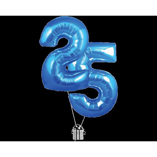 Blue 25 Big Numbers