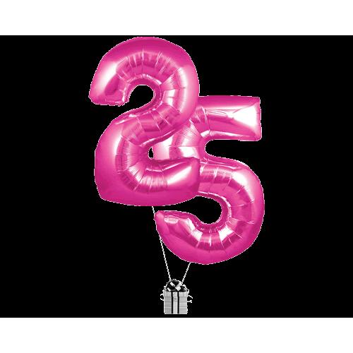 Pink 25 Big Numbers