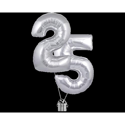 Silver 25 Big Numbers