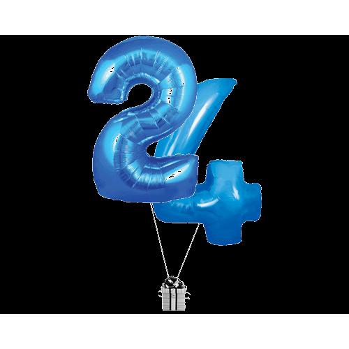 Blue 24 Big Numbers