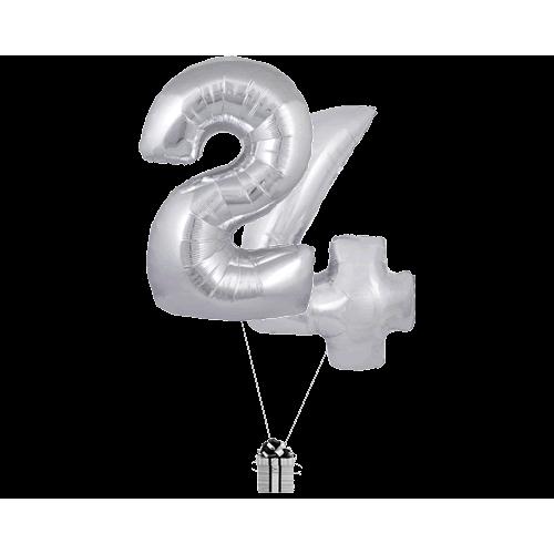 Silver 24 Big Numbers