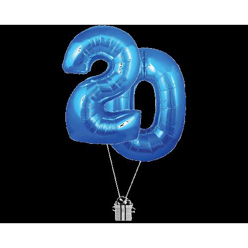 Blue 20 Big Numbers