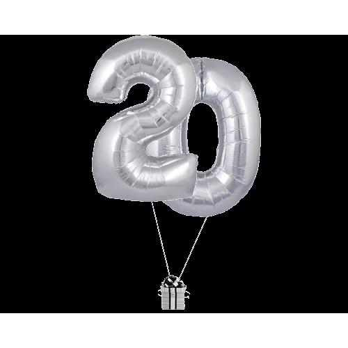 Silver 20 Big Numbers