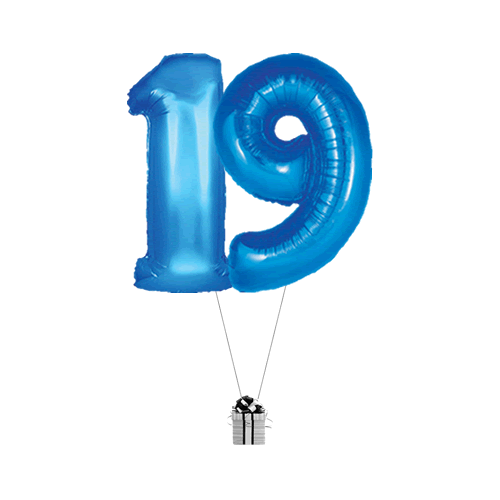 Blue 19 Big Numbers