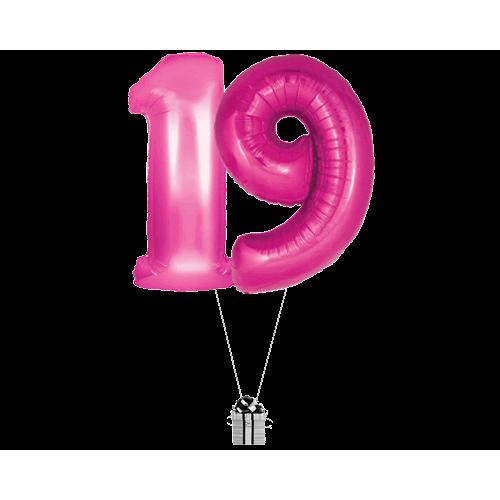 Pink 19 Big Numbers