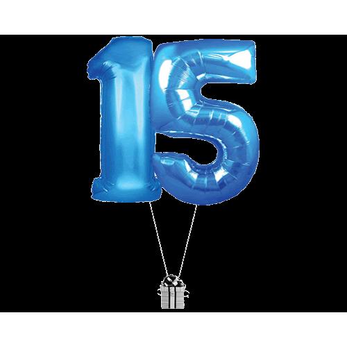 Blue 15 Big Numbers
