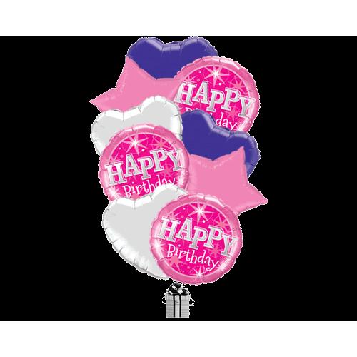 Pink Stars Birthday