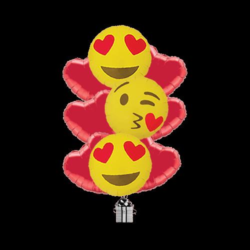 Love Kiss Emoji Hearts