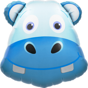 Hippo Head Blue