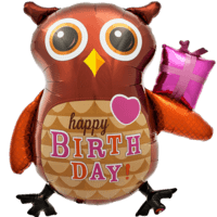 Happy Birthday Owl Balloon in a Box