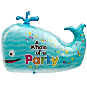 Cheerful Whale Party Balloon in a Box