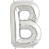 """34"""" Letter B Silver Foil Balloon overview"""