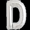 "34"" Letter D Silver Foil Balloon overview"