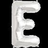 "34"" Letter E Silver Foil Balloon overview"