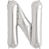 """34"""" Letter N Silver Foil Balloon overview"""