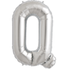 """34"""" Letter Q Silver Foil Balloon overview"""