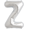 """34"""" Letter Z Silver Foil Balloon overview"""